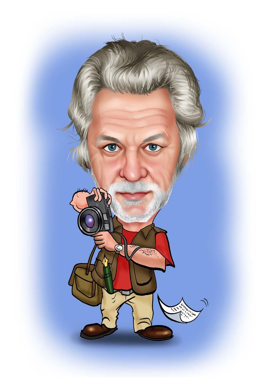 karikatuur fotografie man