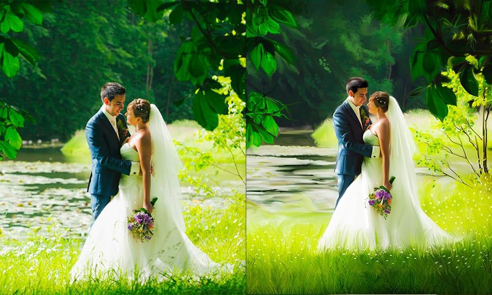 aziatische bruiloft kunstwerk