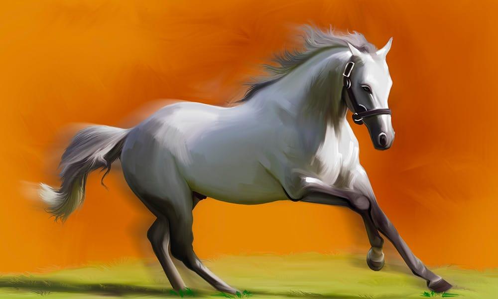paard als olieverf schilderij